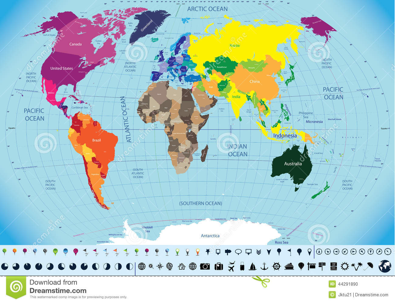 World Map Countries And Capitals Names