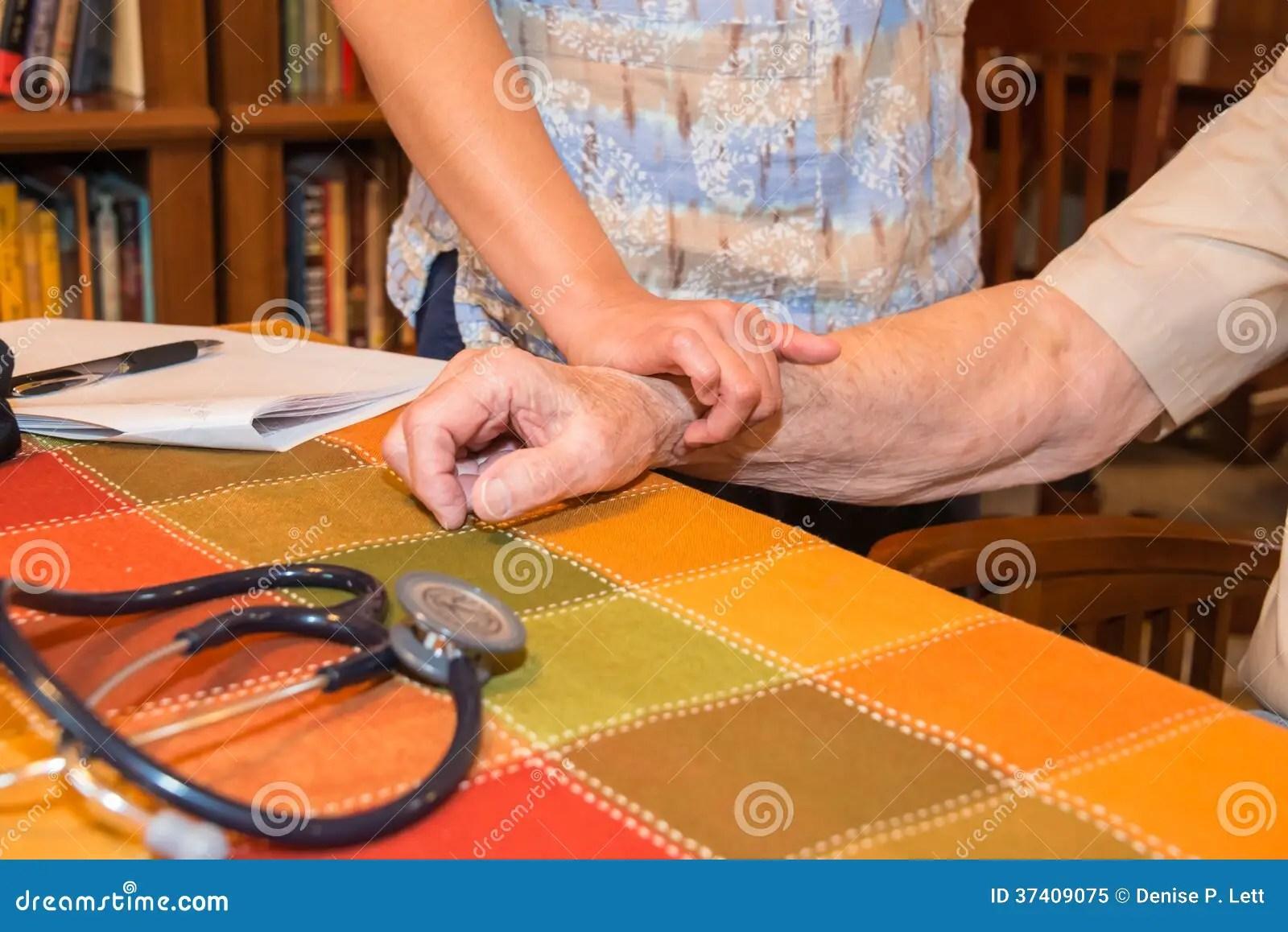 Home Healthcare Nurse Patient Vital Signs Royalty Free ...