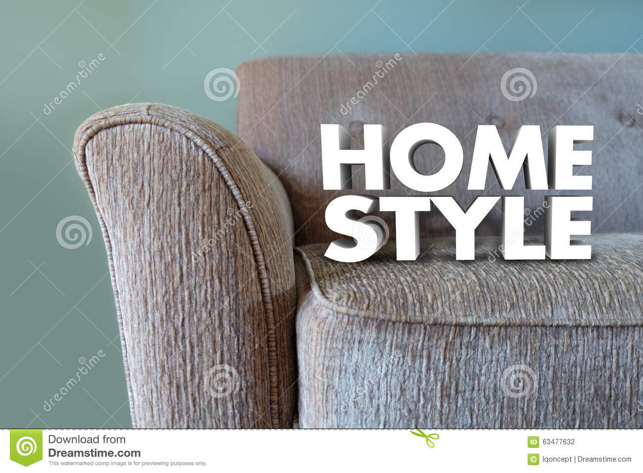 Home Style Couch Furniture Interior Design Decor Stock Illustration     Home Style Couch Furniture Interior Design Decor