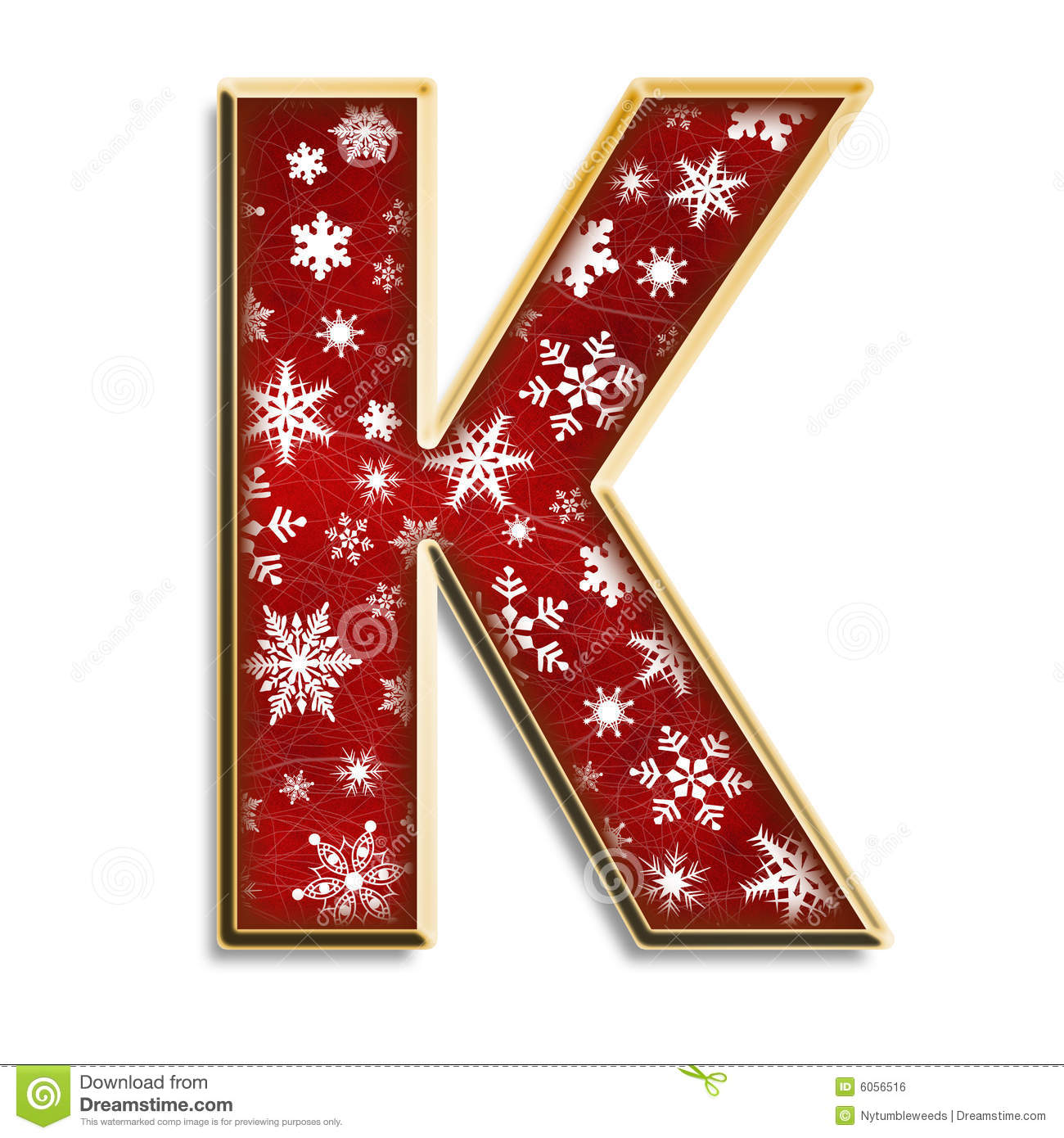 Isolated Christmas Letter K In Red Stock Illustration
