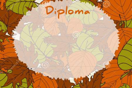 Kids Diploma Certificate Background  Autumn Background With Leaves     Kids Diploma certificate background  Autumn background with leaves