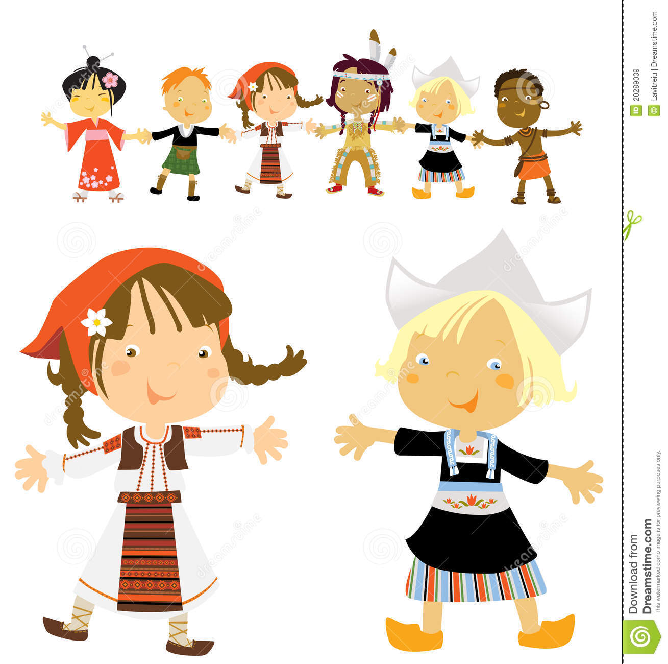 Kids Multicultural Royalty Free Stock Images Image 20289039
