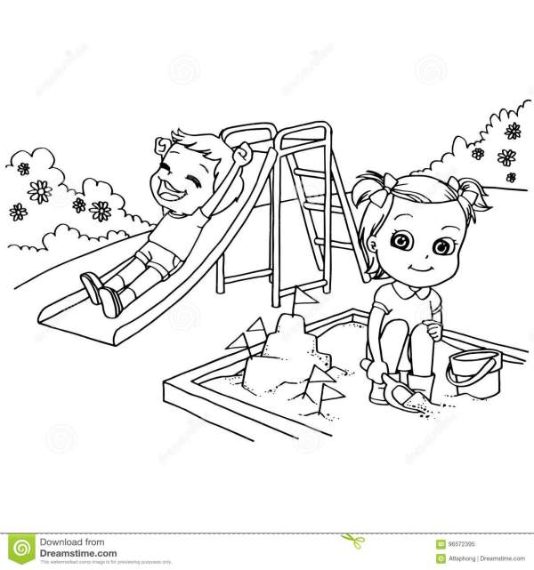 playground coloring pages # 10