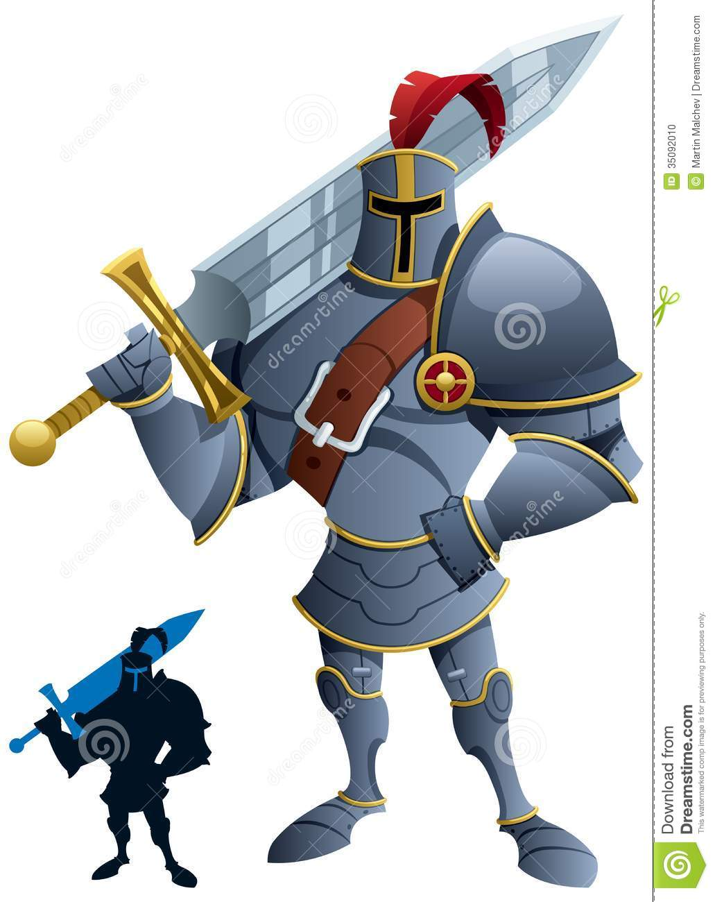 Sword Shield And Knight Silhouette