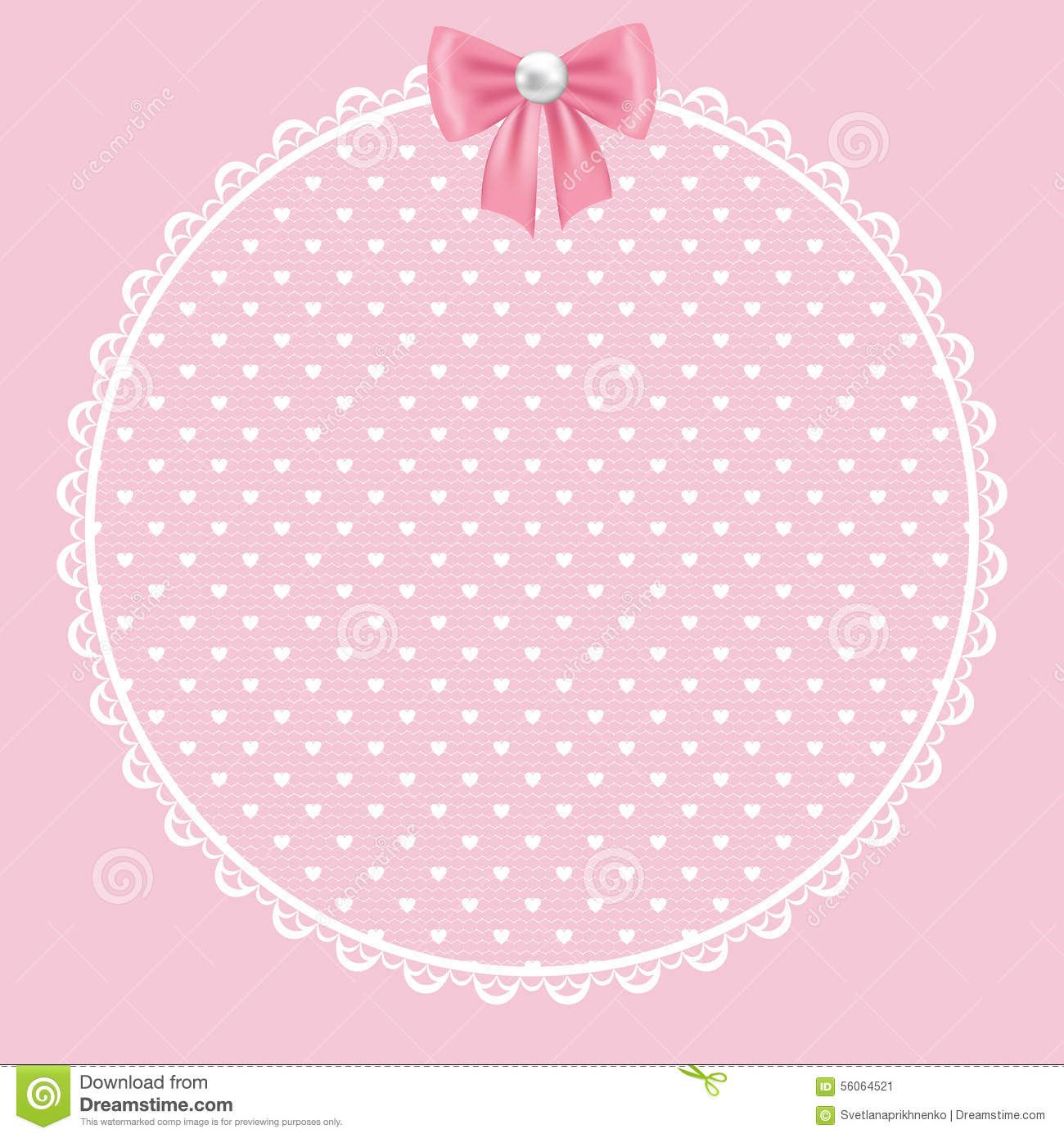 Vintage Pink Clip Art And Border Rose Cream