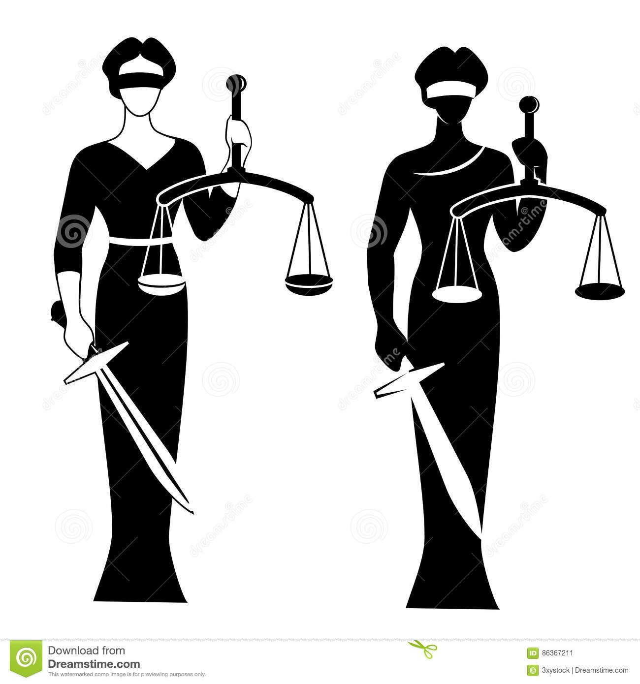 Sword And Scales Justice Silhouette