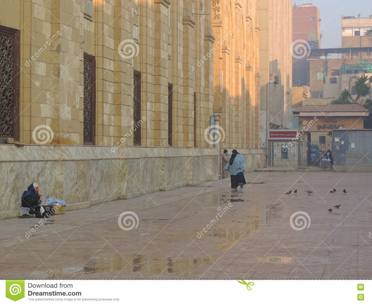 Lady Sitting In The Lane Adjoining Al-Hussein Mosque ...