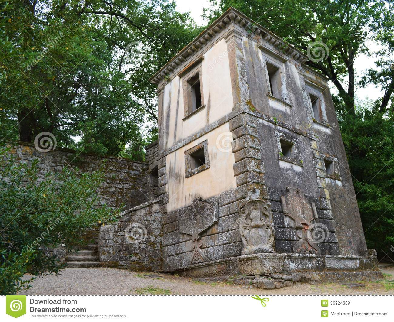 Leaning House Stock Photo Image Of Parco Bomarzo Vicino