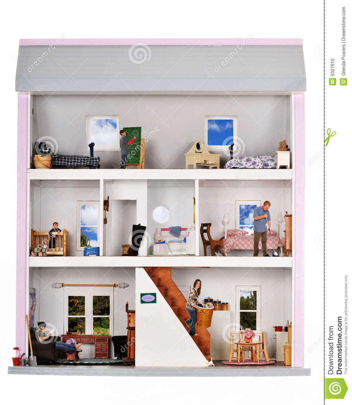 Life In A Doll House Stock Photo Image Of Drawing