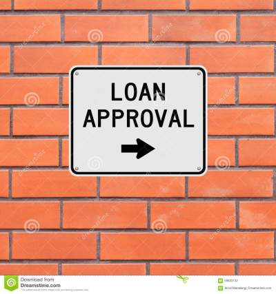 Loan Approval This Way Stock Photo - Image: 59833132