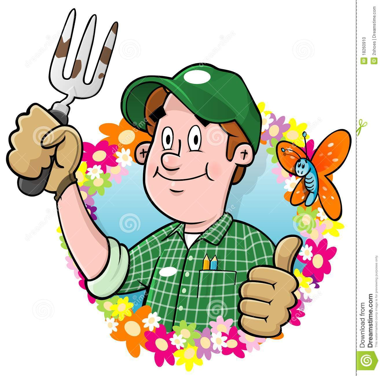 people gardening clip art - 800×845