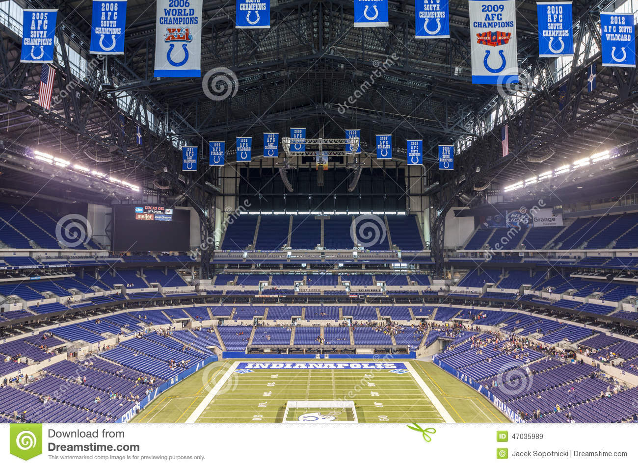 Lucas Oil Stadium In Downtown Of Indianapolis Indiana