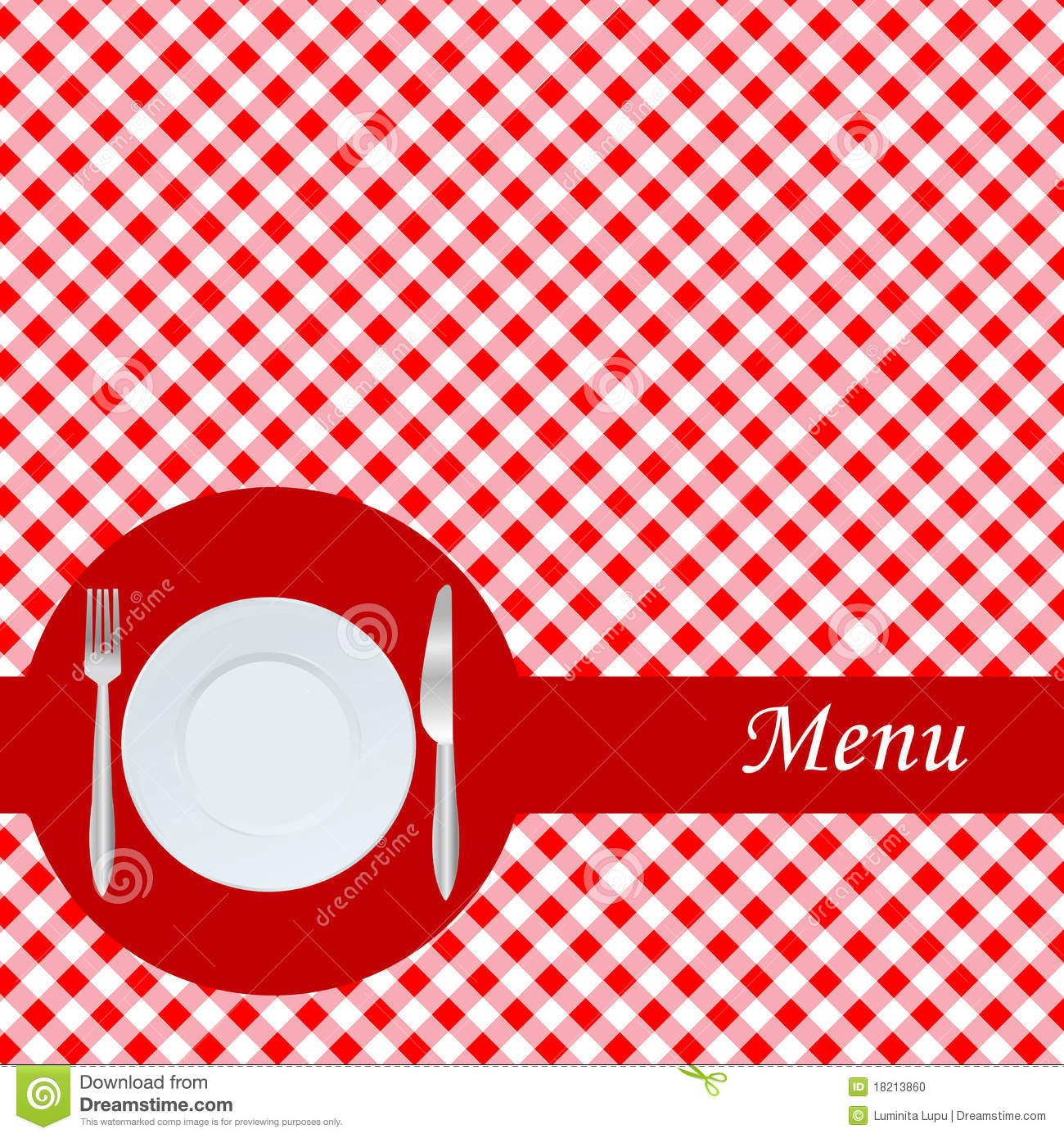 Knife And Fork Plate Template