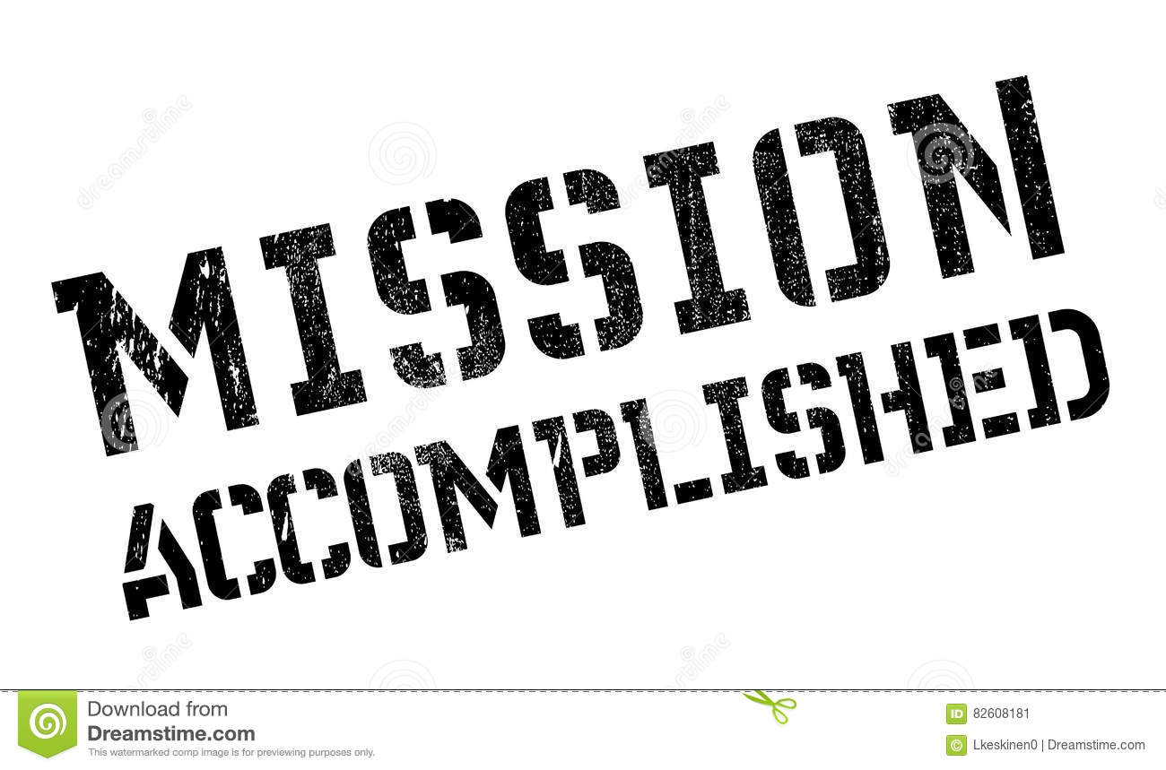 Job Done And Mission Accomplished Cartoon Vector