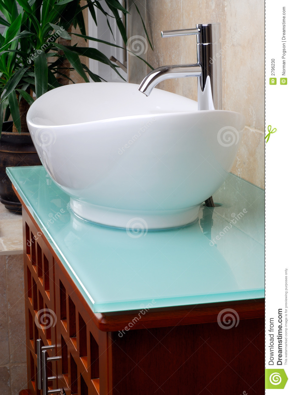 Modern Bathroom Vanity Sink Stock Photo Image Of