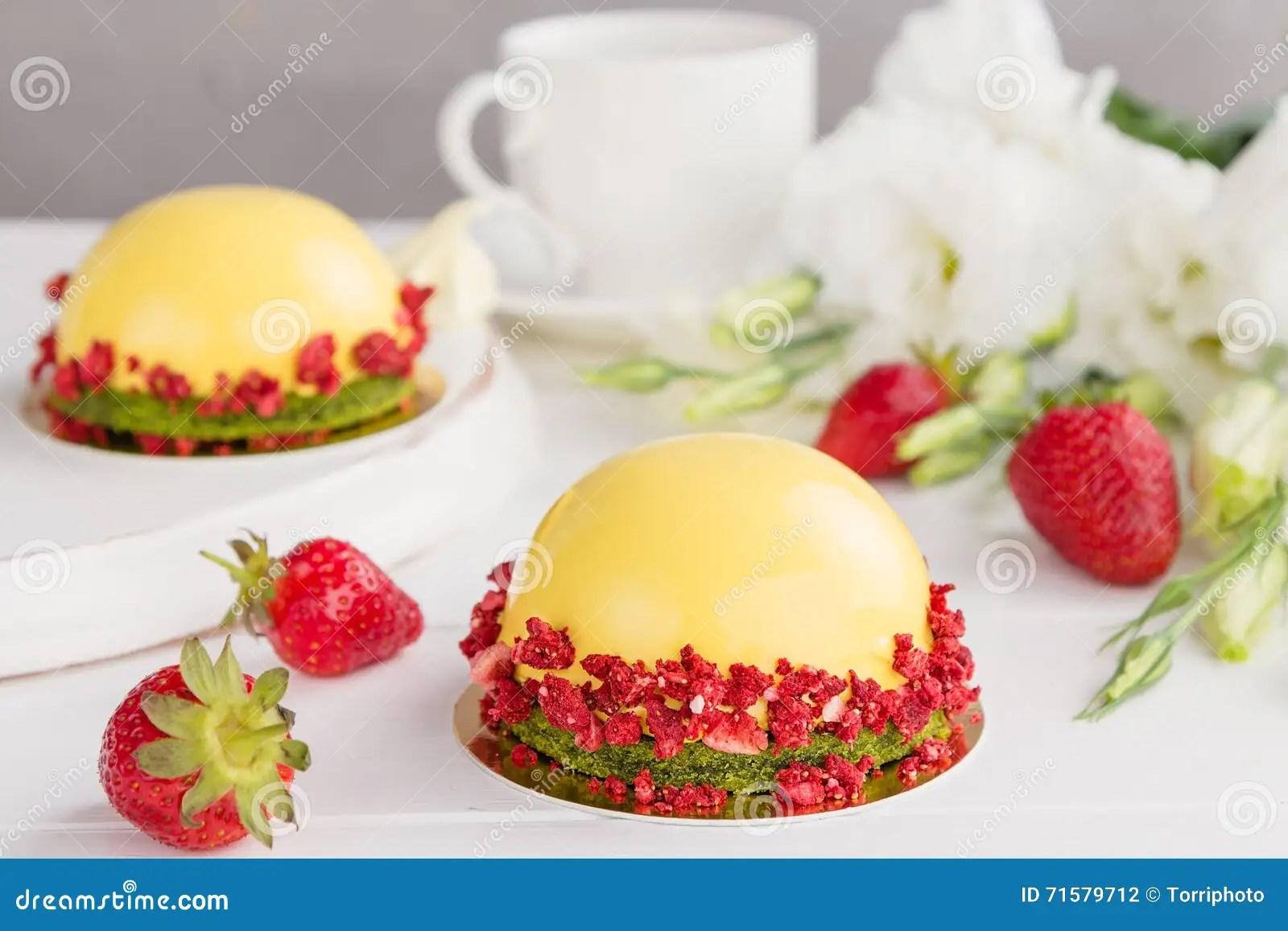 Modern Fruit Mousse Cakes Stock Photo Image Of Glyassazh