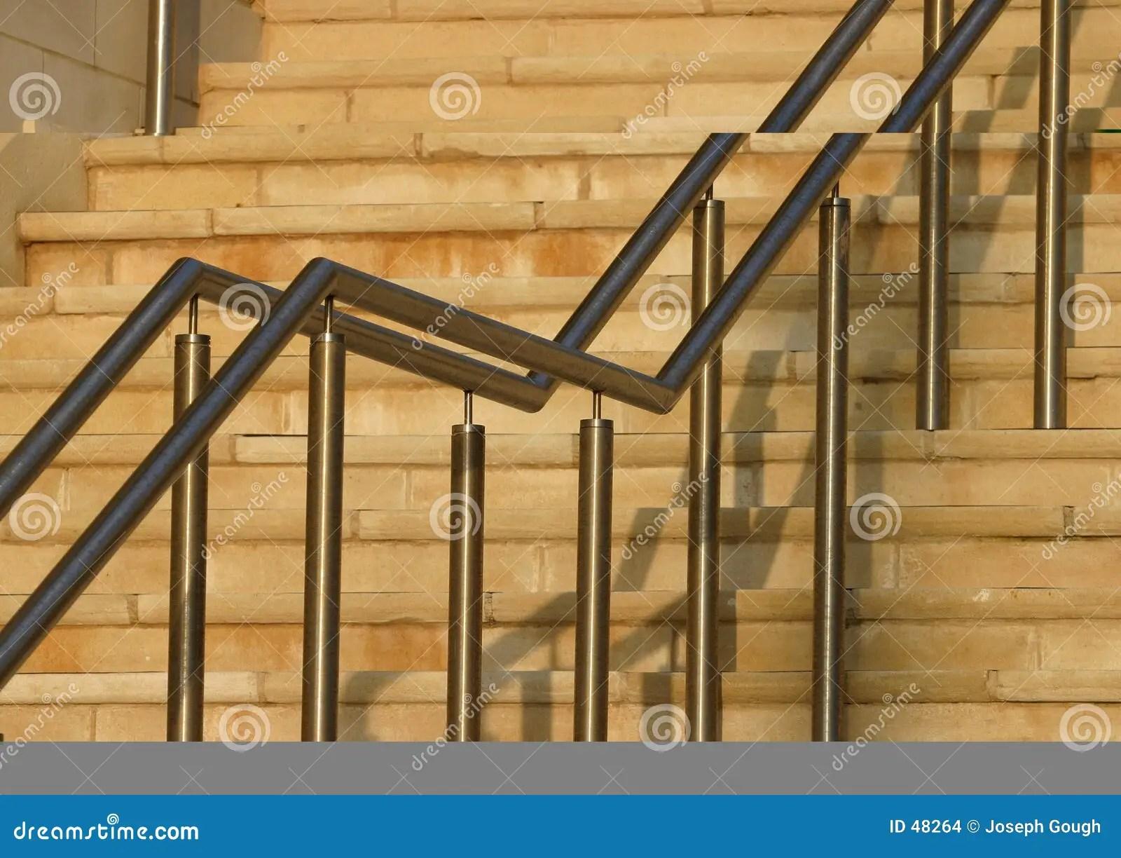 Modern Stair Rails Stock Photo Image Of Brick Steps Climbing   Modern Stainless Steel Staircase Railing   Glass   Rectangle   Elegant   Modern Farmhouse   Hand