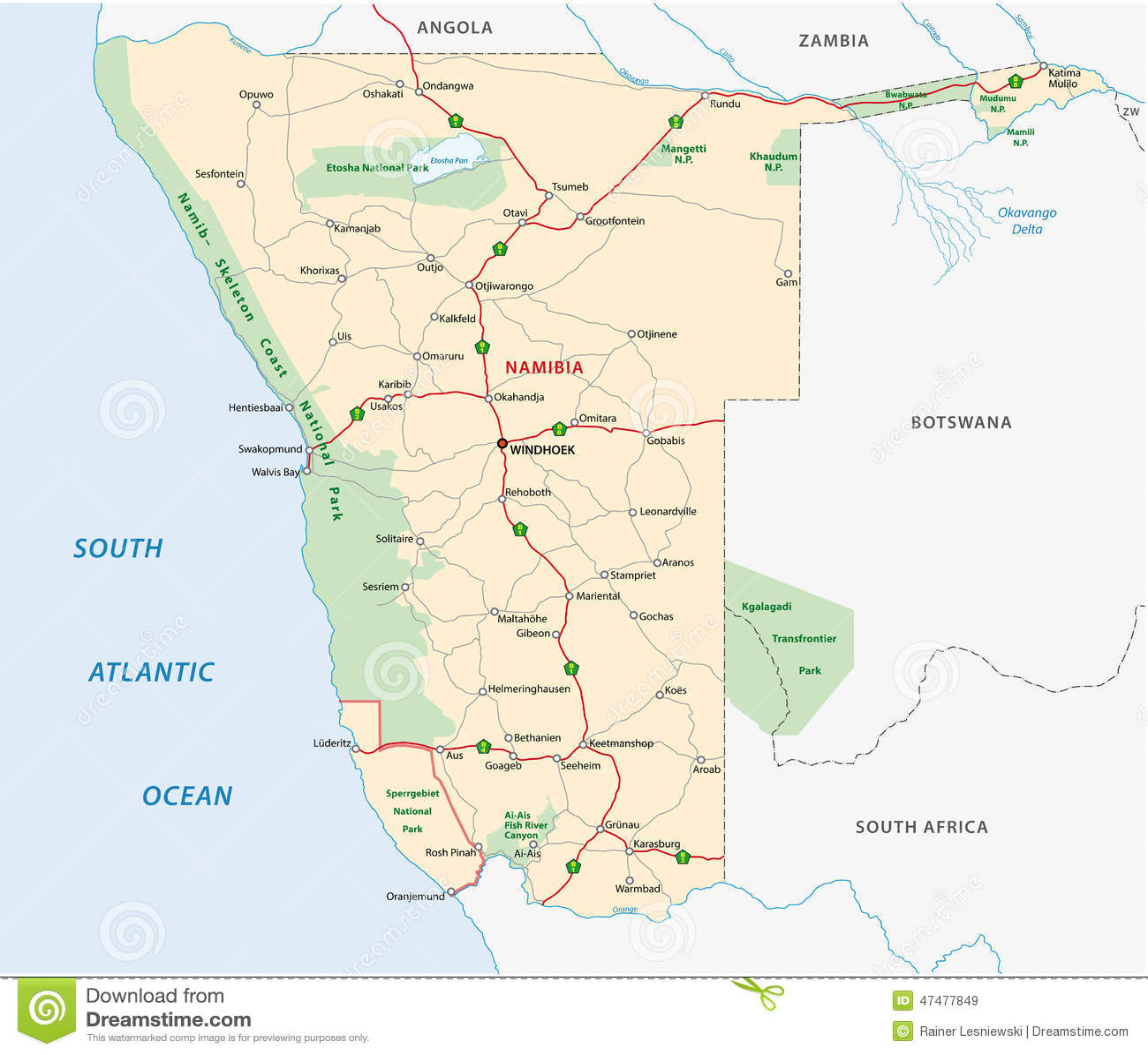 Desert On World Map - Kalahari desert map