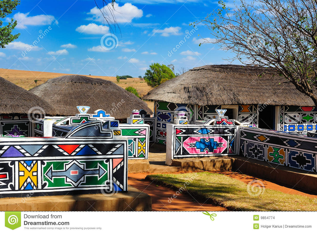 Ndebele Village South Africa Stock Images Image 9854774