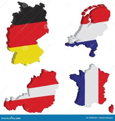 Nederlands Duitsland, Frankrijk, Oostenrijk Stock ...