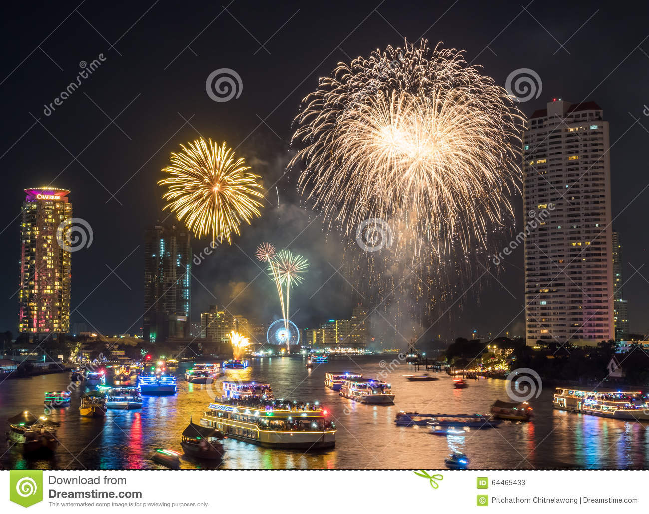 New Year Countdown Celebration Fireworks In Bangkok Editorial Stock     Download New Year Countdown Celebration Fireworks In Bangkok Editorial  Stock Photo   Image of ship
