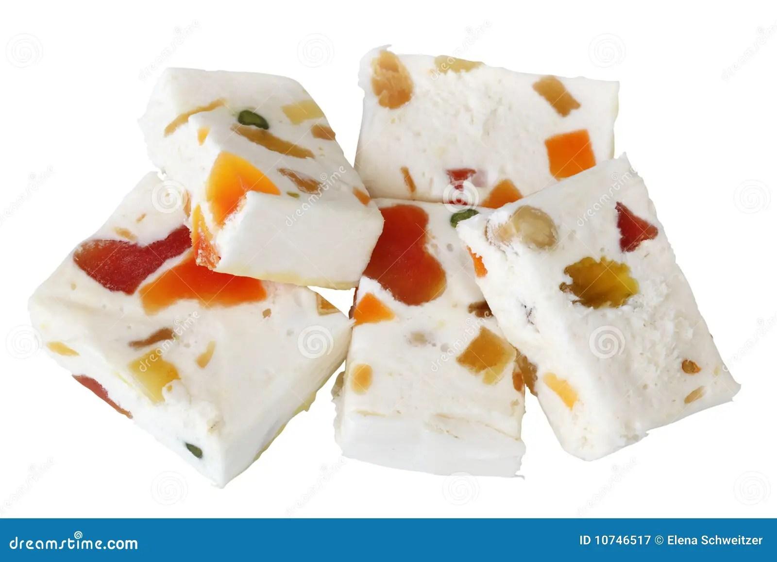 White Candy Nougat 1960s