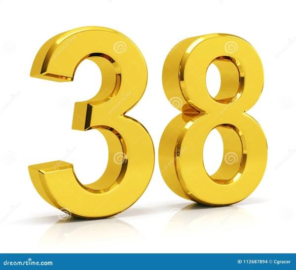number 38 # 4