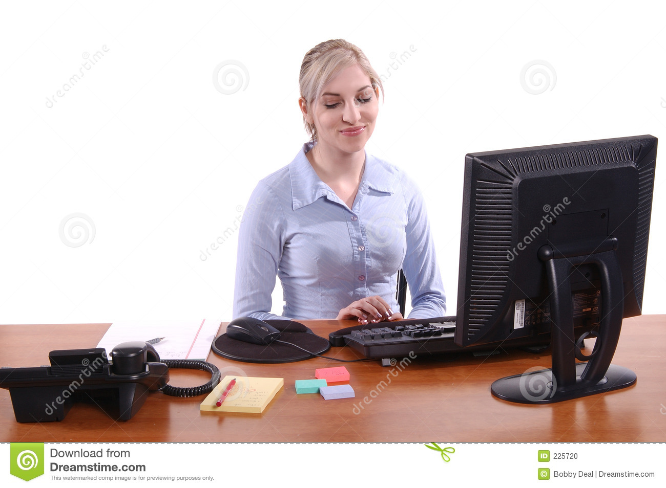 Office Worker Stock Photo Image Of Girl Woman Business