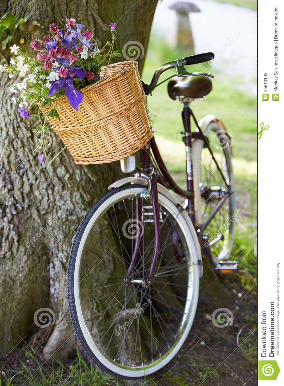 Old Fashioned People Bicycle