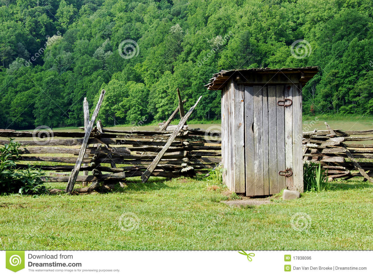 Old Fashioned Outhouse Stock Photo Image Of Rustic Fence