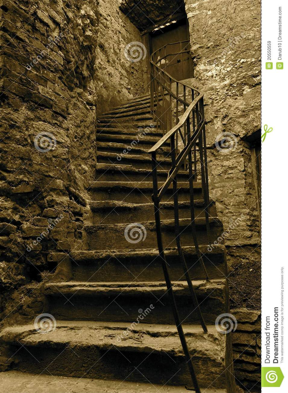 Old Stairs Stock Image Image Of Monotone Broken House
