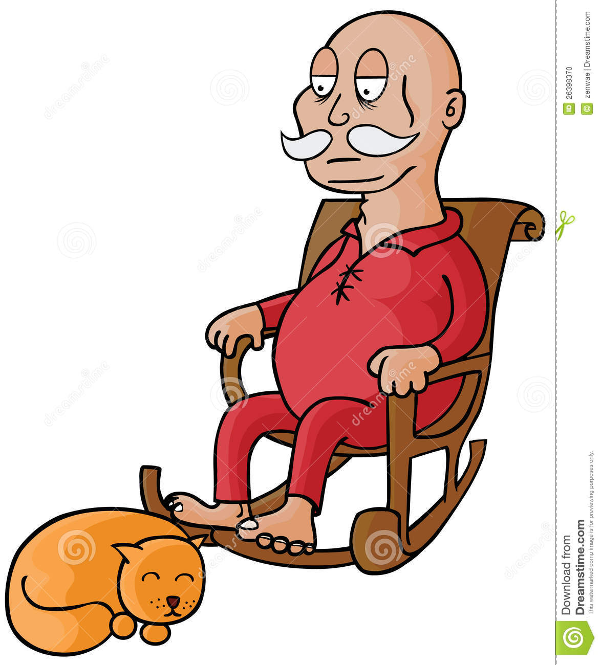 Chair Man And Woman Cartoon Old