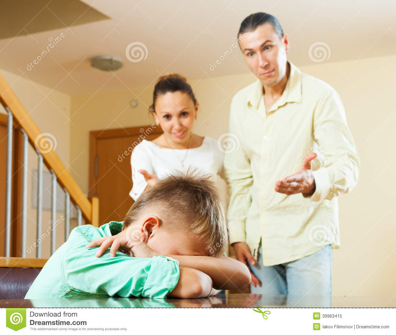 Parents Scolding Her Teenage Child Stock Image Image Of