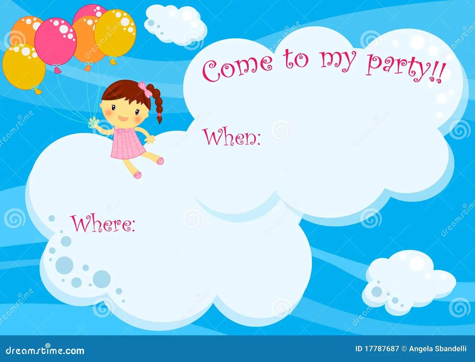 Child Birthday Invitation Card