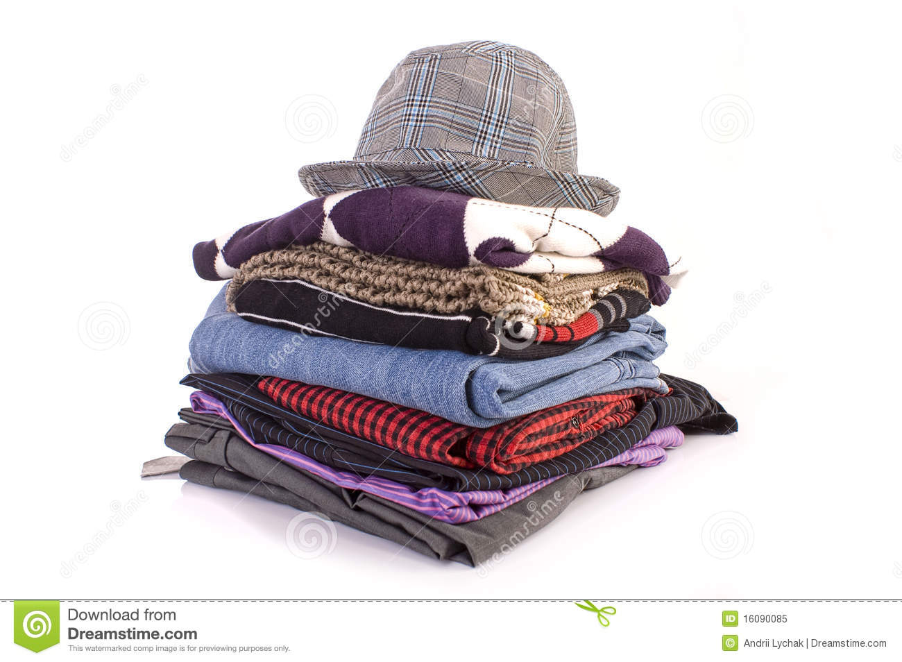 Pile of clothes stock image. Image of jeans, gender ...