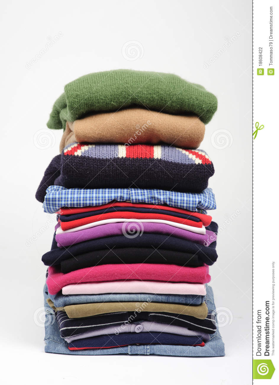 Pile Of Clothes Stock Photography - Image: 18608422