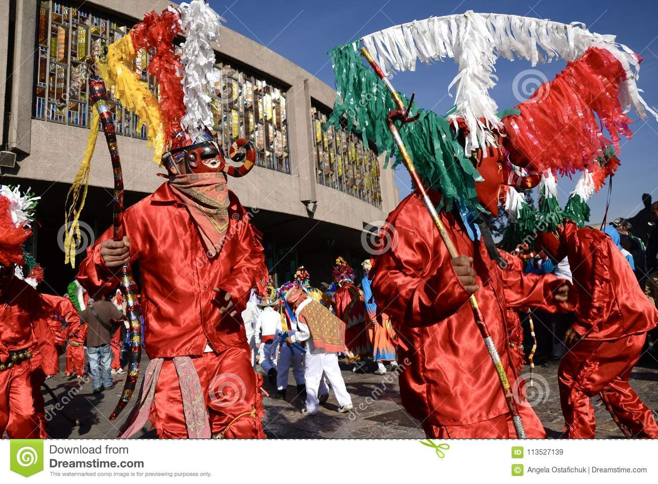 Mexico City  Mexico December 10  2017 Pilgrims Celebrate The     Download Mexico City  Mexico December 10  2017 Pilgrims Celebrate The  Festivities At