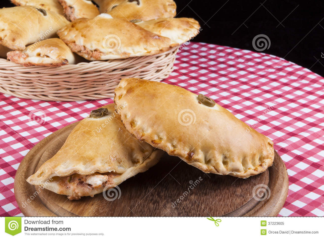 Pizza Filling stock image. Image of india, fried, dinner ...
