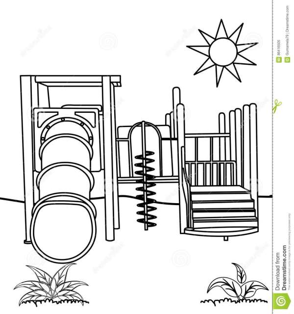 playground coloring pages # 17