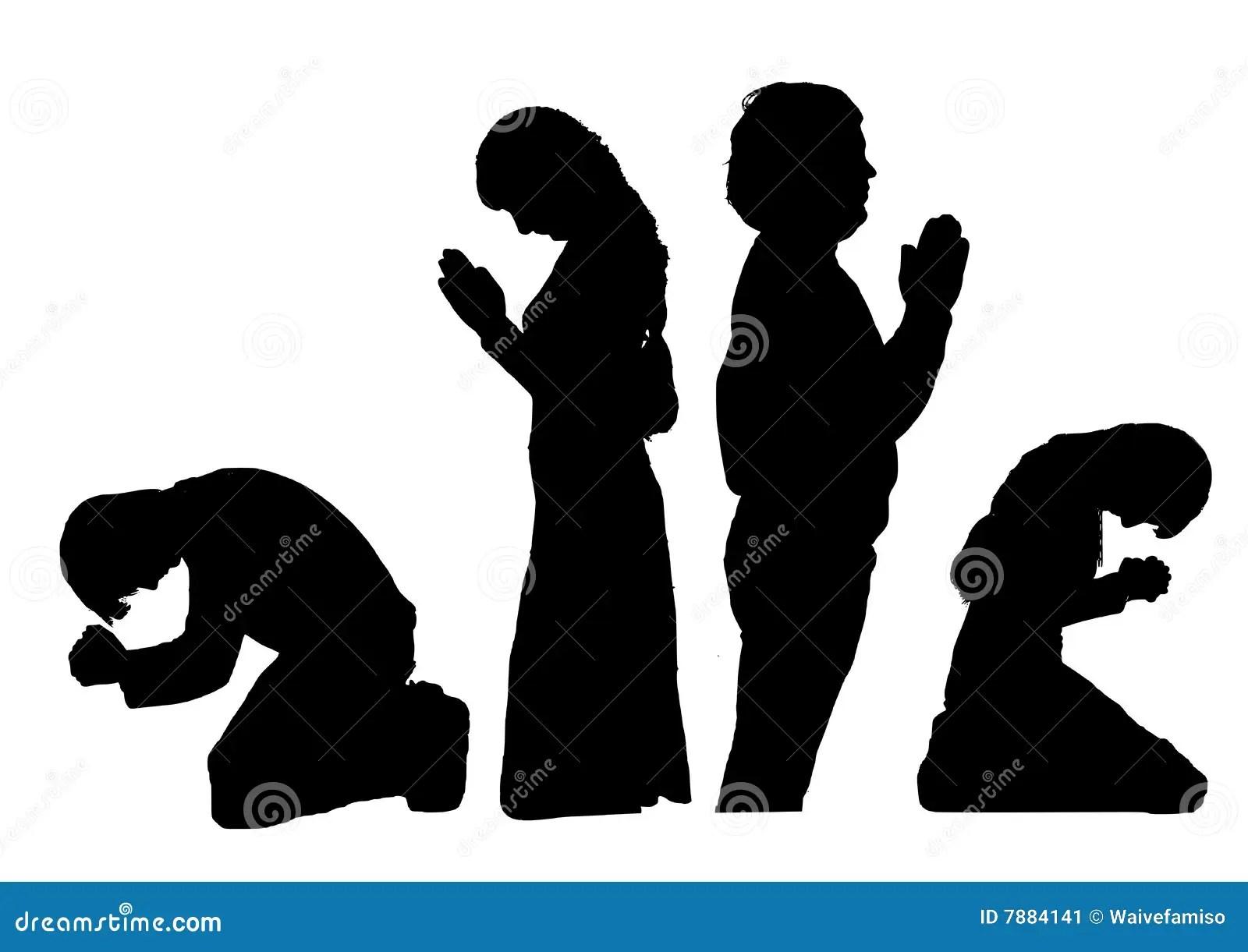 Praying Silhouettes Stock Image - Image: 7884141