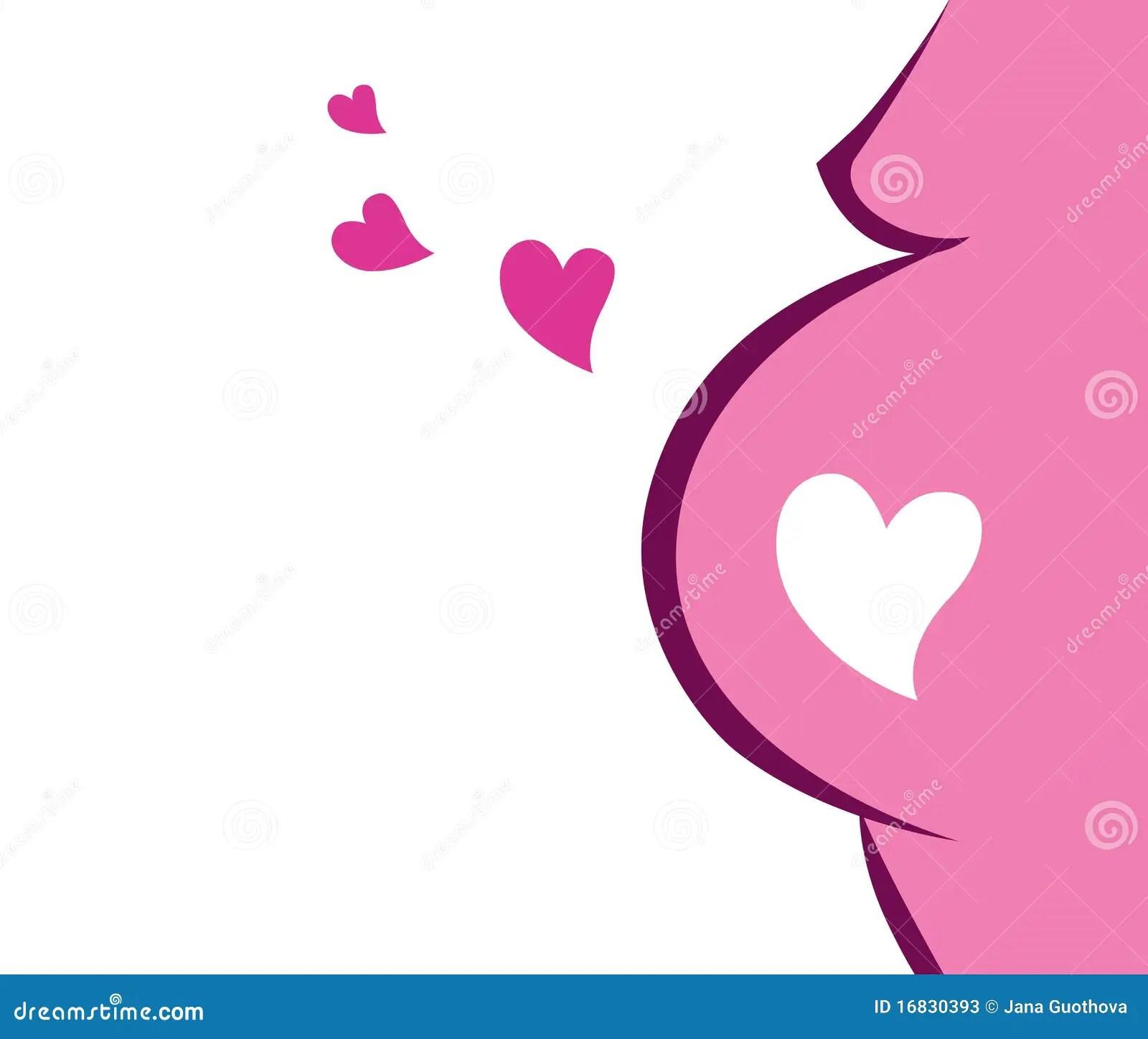 Modern Pregnant Woman Clip Art