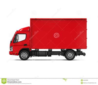 Red Delivery Van Stock Illustration - Image: 56632693