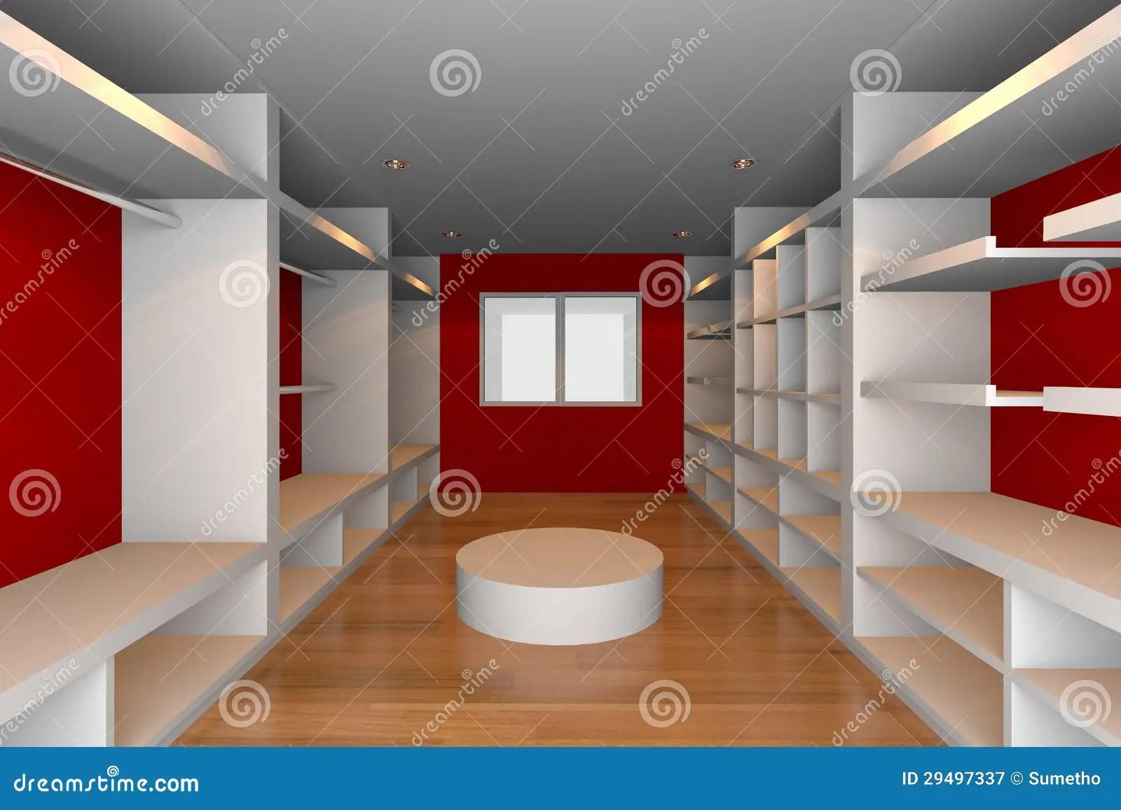 Red Walk In Closet Stock Illustration Illustration Of