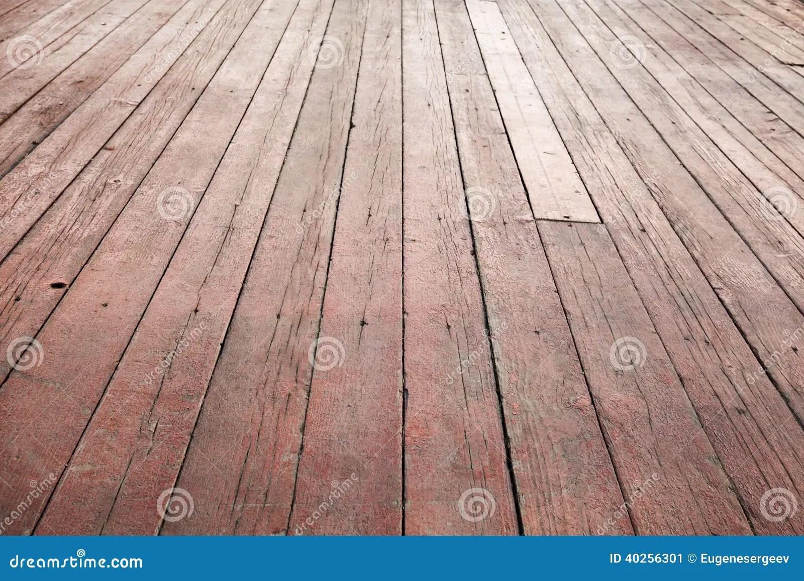 Red Wooden Floor Perspective Background Texture Stock