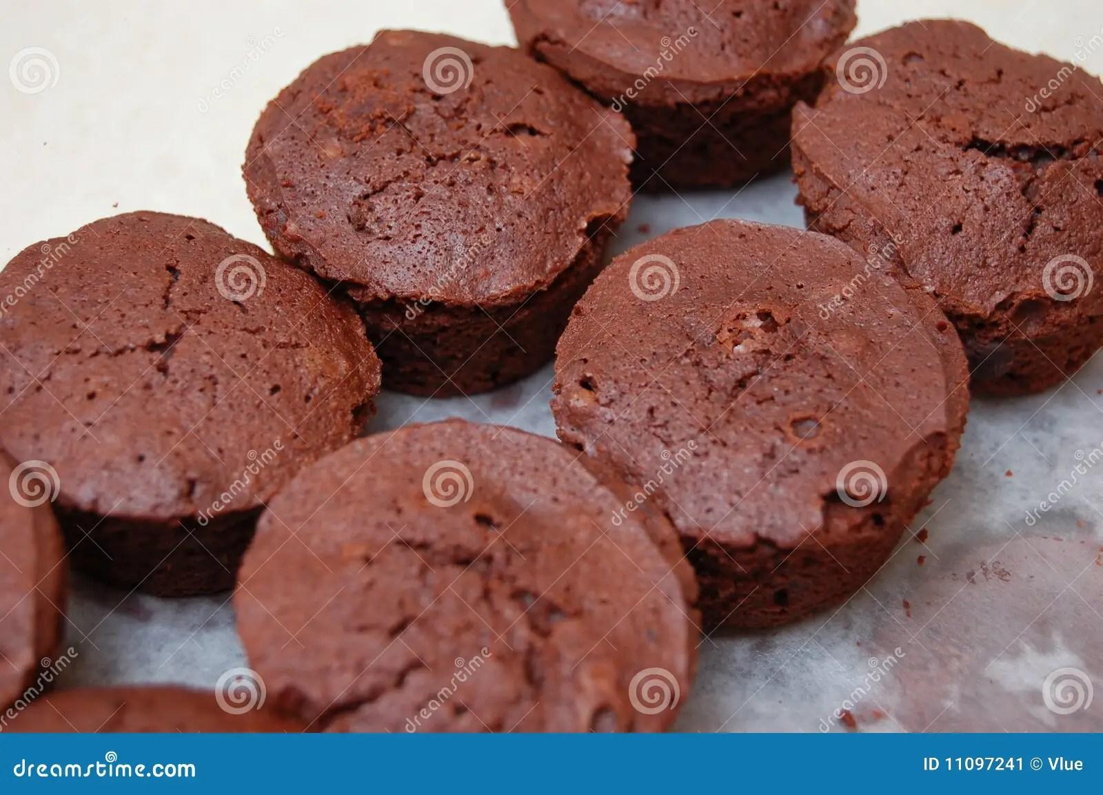Round Brownies Stock Image Image 11097241