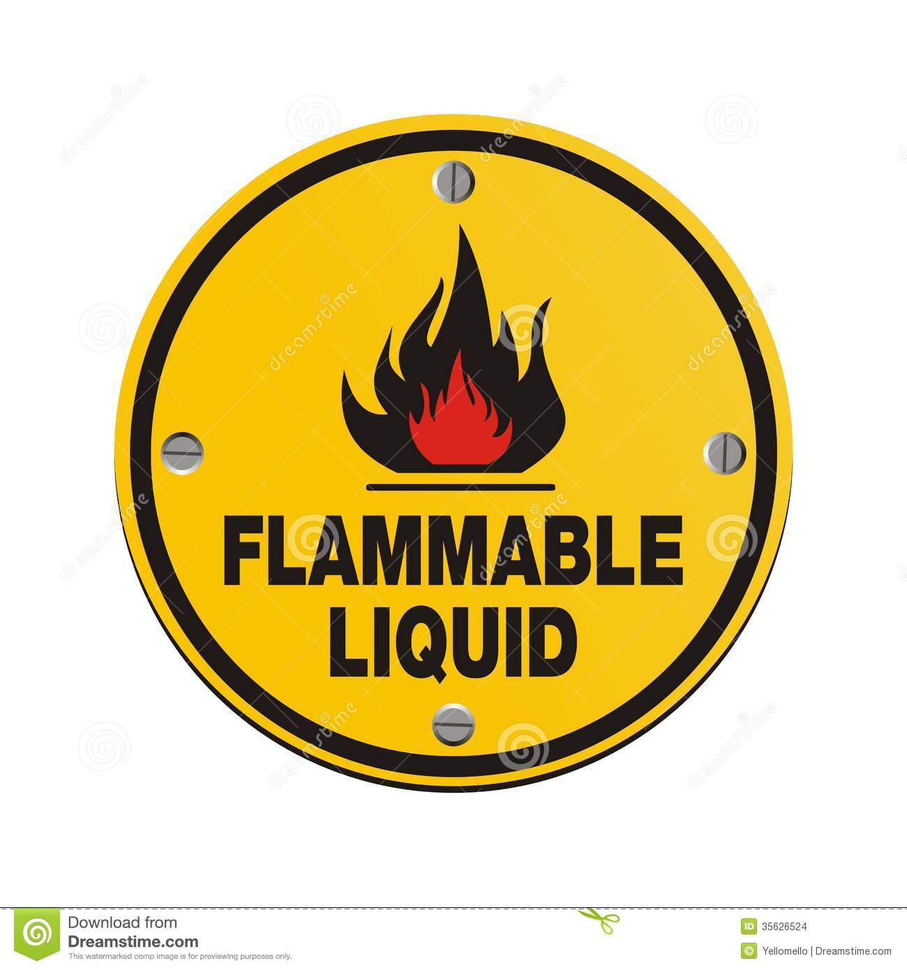 And Labels Red Black Flammable Liquid