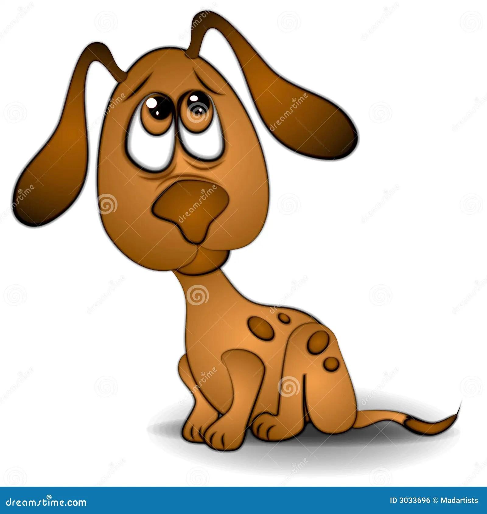 Cartoon Puppy Sad Eyes Dog
