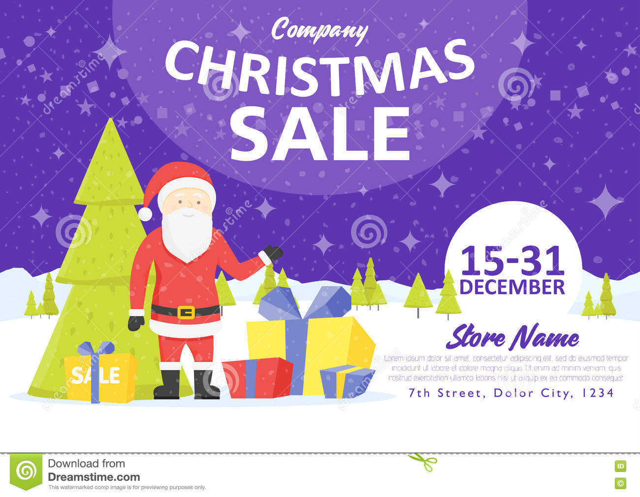 Sale Holiday Website Banner Templates  Christmas And New Year     Download Sale Holiday Website Banner Templates  Christmas And New Year  Illustrations For Social Media Banners