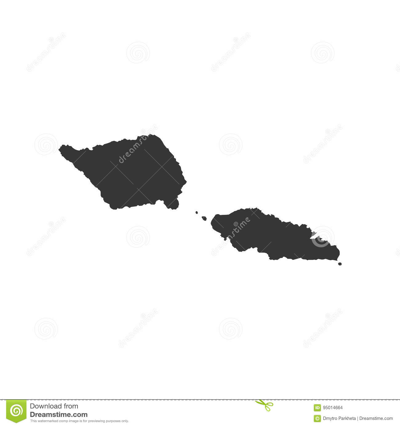 Samoa map outline stock vector  Illustration of black   95014664 Samoa map outline  Black  background