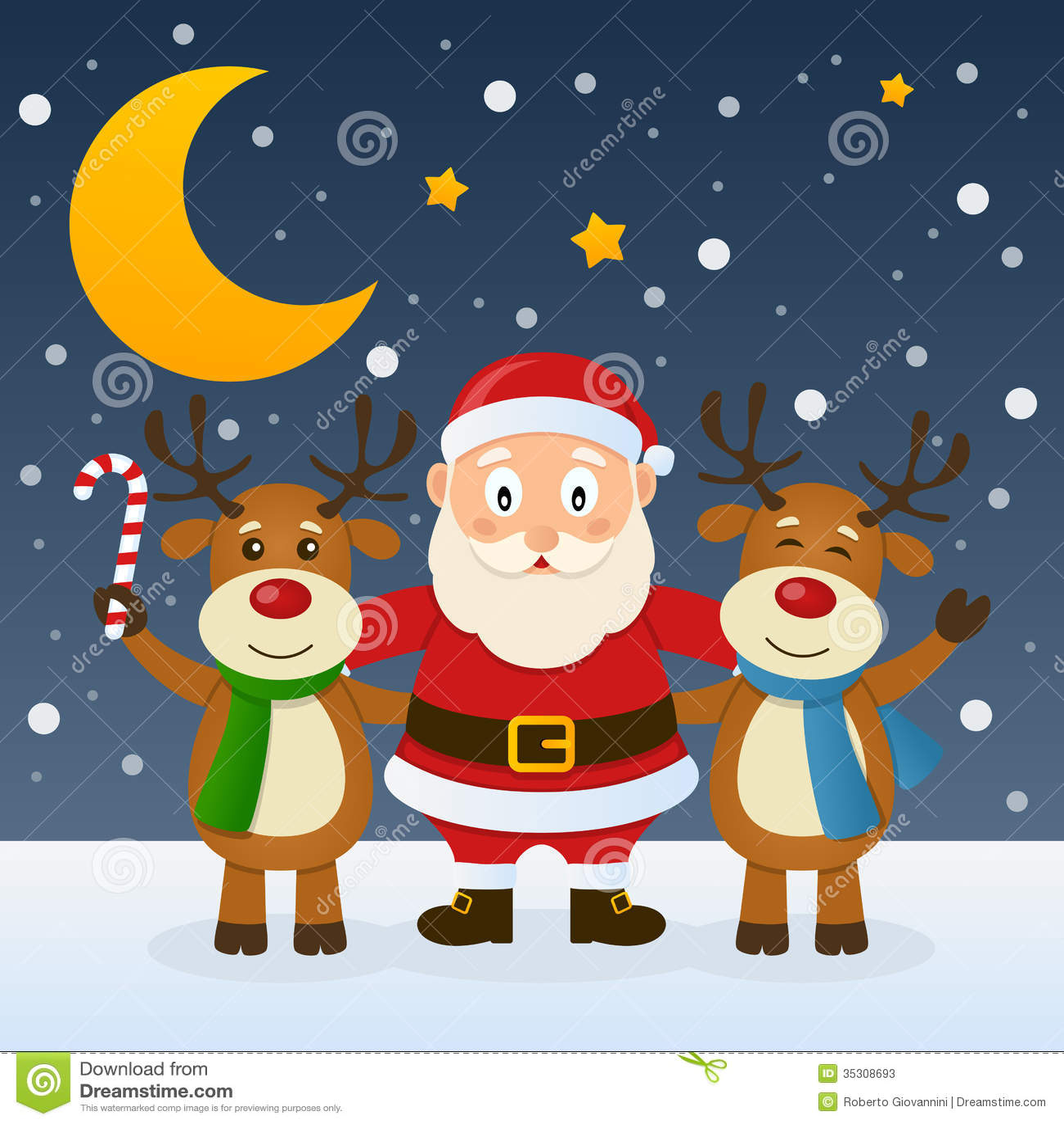 Christmas Border Singing
